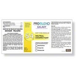 ProBlend™ Galaxy-54 Neutral Disinfectant RTU Label Sheet