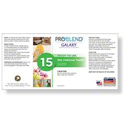 ProBlend™ Galaxy-15 Polynesian Tiare RTU Label Sheet