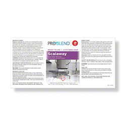 ProBlend™ Scalaway RTU Label Sheet