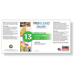 ProBlend™ Galaxy-13 Citrus Breeze RTU Label Sheet