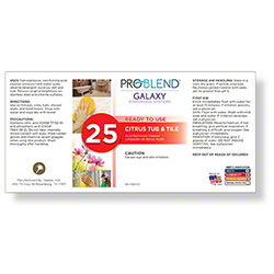 ProBlend™ Galaxy-25 Citrus Tub & Tile RTU Label Sheet