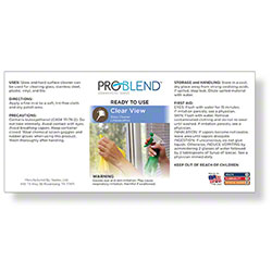 ProBlend™ Clear View RTU Label Sheet
