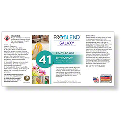 ProBlend™ Galaxy-41 Enviro Mop RTU Label Sheet