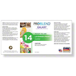 ProBlend™ Galaxy-14 Lavender Fresh RTU Label Sheet