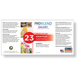 ProBlend™ Galaxy-23 Scrub Foam RTU Label Sheet