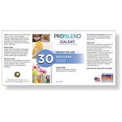 ProBlend™ Galaxy-30 Eco Clear RTU Label Sheet
