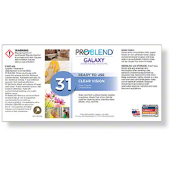 ProBlend™ Galaxy-31 Clear Vision RTU Label Sheet