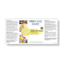 ProBlend™ Galaxy-50 Green Oxy Plus RTU Label Sheet