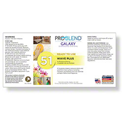 ProBlend™ Galaxy-51 Wave Plus RTU Label Sheet