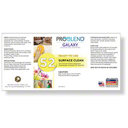 ProBlend™ Galaxy-52 Surface Clean RTU Label Sheet