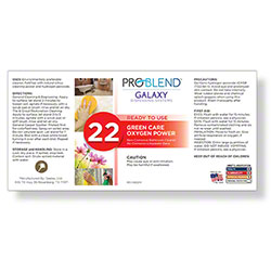 ProBlend™ Galaxy-22 Green Care Oxygen Power RTU Label