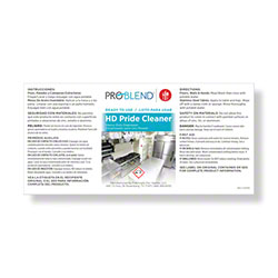 ProBlend™ HD Pride Cleaner RTU Label