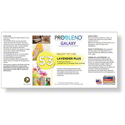 ProBlend™ Galaxy-53 Lavender Plus RTU Label Sheet
