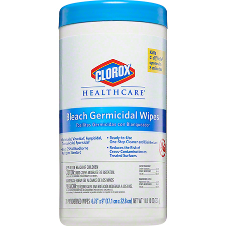 "CLOROX GERMICIDAL WIPES 6 3/4""X 9"" 6/70 420/CS"