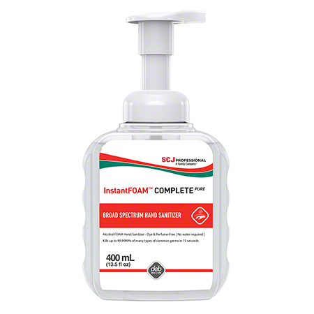 INSTANT FOAM COMPLETE HAND SANITIZER 400ML X 6 W/ 1 PUMP