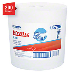 "WypAll® L40 Center Pull Cleaning & Drying Towel - 10"" x 13.2"", White"