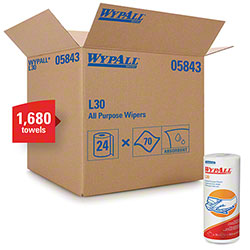 "WypAll® L30 DRC Roll Towel - 11"" x 10.4"", White"