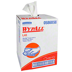 "WypAll® L40 Dry Up Cleaning & Drying Towel - 19.5"" x 42"", White"