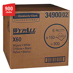 "WypAll® X60 Reusable Cloth - 12.5"" x 16.8"", White"