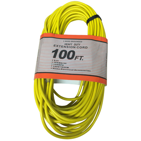 100FT 16/3 SJT EXTENSION CORD