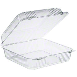 """Dart® StayLock® 9"""" Square OPS Container - High Dome"""