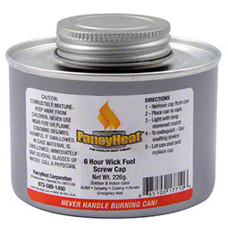 FancyHeat® Wick Fuel w/Screw Cap - 6 Hour