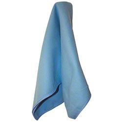 "Impact® Premium Weight Microfiber Cloth - 16"" x 16"", Blue"