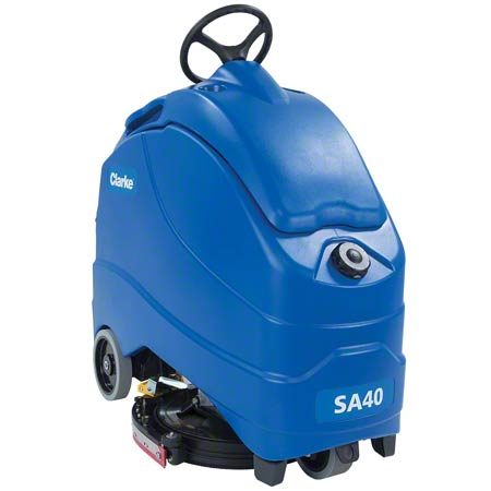 "Clarke® SA40 Stand-On Scrubber - 20"" Disc, 208 AH"