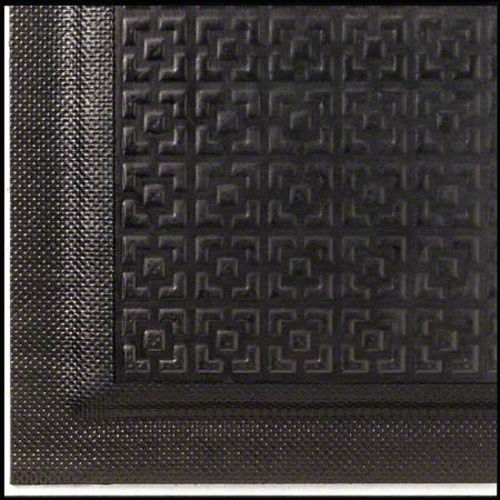 M + A Matting Happy Feet® Texture Top - Black, 3x5