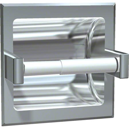 ASI Bright Stainless Steel Recessed Toilet Tissue Holder