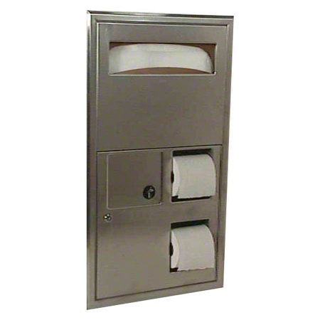 Bobrick ClassicSeries® Seat-Cover/Napkin/Tissue Dispenser
