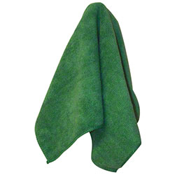 "Impact® Premium Weight Microfiber Cloth - 16"" x 16"", Green"