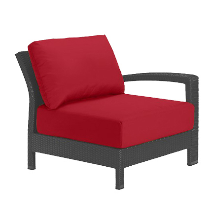 Tropitone Left Arm Red Cushioned Poolside Seating