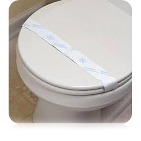 "Toilet Seat Bands ""Sanitized For Your Protection"""