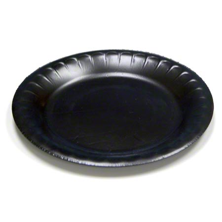 Pactiv Black Bread u0026 Butter Plate ...  sc 1 st  National Everything Wholesale : black disposable plates - Pezcame.Com