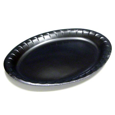 Pactiv Black Oval Platter - 8.5\  x ...  sc 1 st  National Everything Wholesale : foam paper plates - pezcame.com