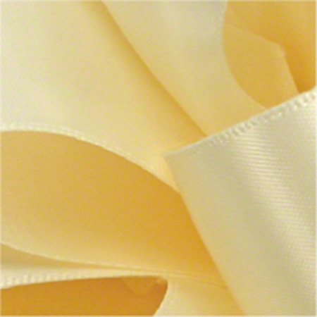 "Shamrock Cream Double Face Satin Ribbon - 5/8"" x 100 yds"