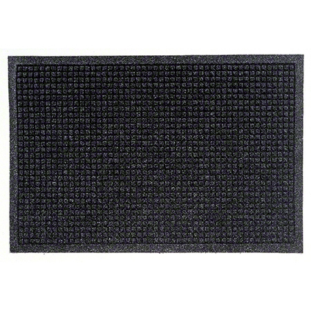 M + A Matting Waterhog® Fashion Border Mat -Charcoal, 4x6
