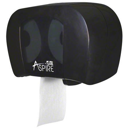 PRO-LINK® green™ Aspire® Twin Tissue Dispenser -Black