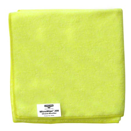 Unger® MicroWipe™ 200 Microfiber Cloth - Yellow