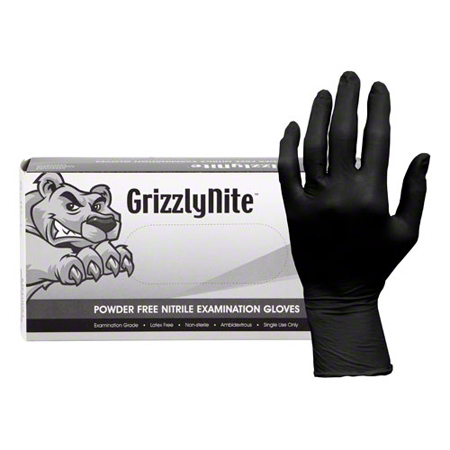 HOSPECO® ProWorks® GrizzlyNite® Black Nitrile Glove - Large