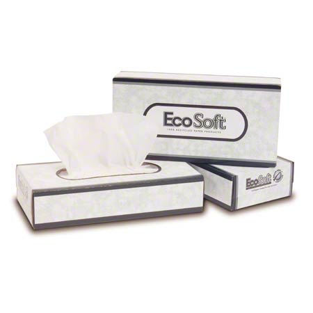 WausauPaper® EcoSoft™ Green Seal™ Facial Tissue