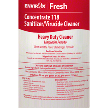 EnvirOx® Label for Concentrate 118 Heavy Duty Dilution