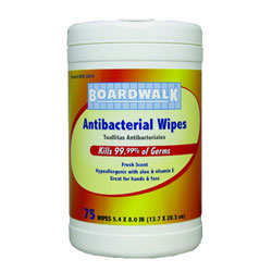 Antibacterial  Wipes  Whi  Hand & Face 6 75ct