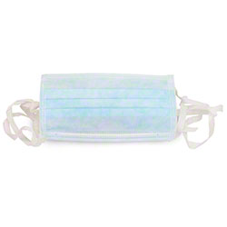 Safety Zone Tie-On Pleated Blue Procedural Mask