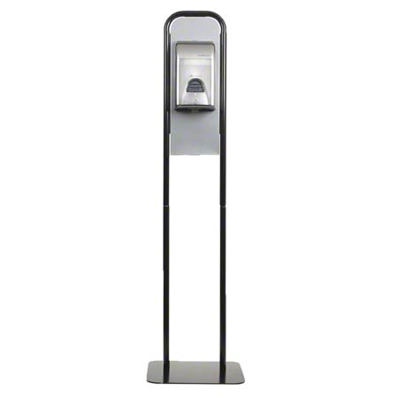 GP Hand Sanitizer Tall Stand - Brushed Stainless/Black