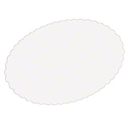 Hoffmaster® White Scalloped Oval Wastebasket Liner