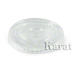 Karat® Clear PET Flat Lid Fits 9 oz., 12 oz. PET Cold Cup