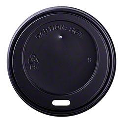 Karat® Black Sipper Dome Lid Fits 8 oz. Hot Cup