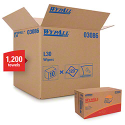 "Kimberly-Clark® WYPALL® L30 Wiper - 10"" x 9.8"", White"